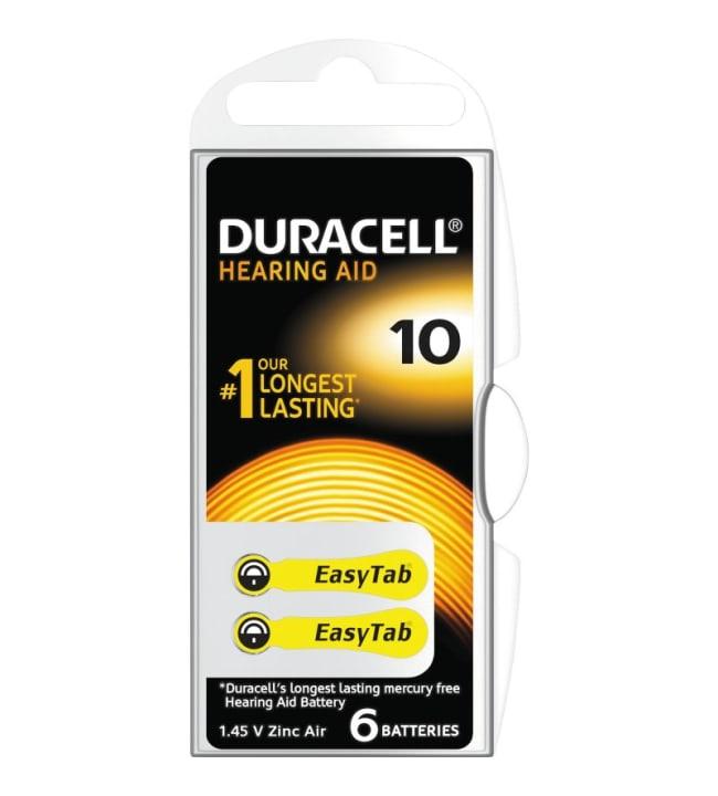 Duracell DA10 6kpl kuulokojeparisto