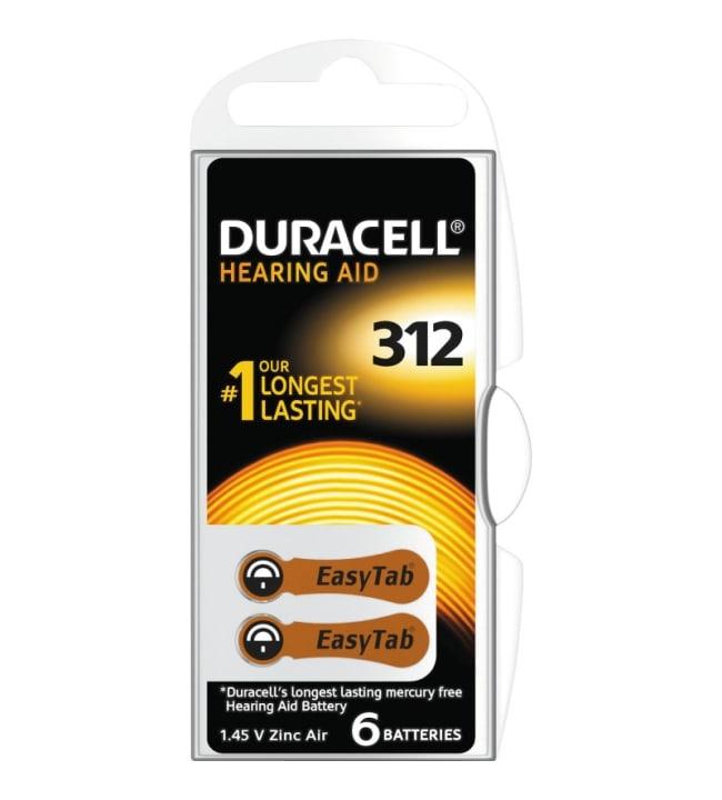 Duracell DA312 6kpl kuulokojeparisto