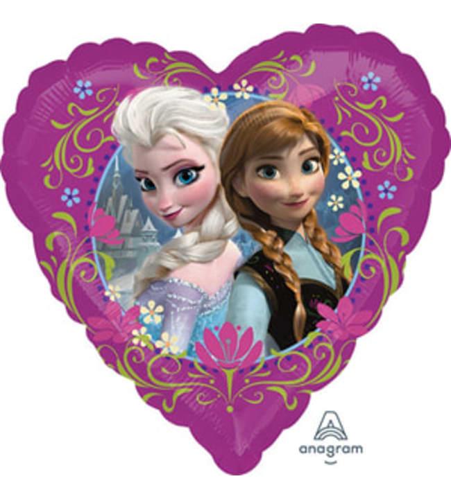 Frozen keväinen sydän tavallinen foliopallo