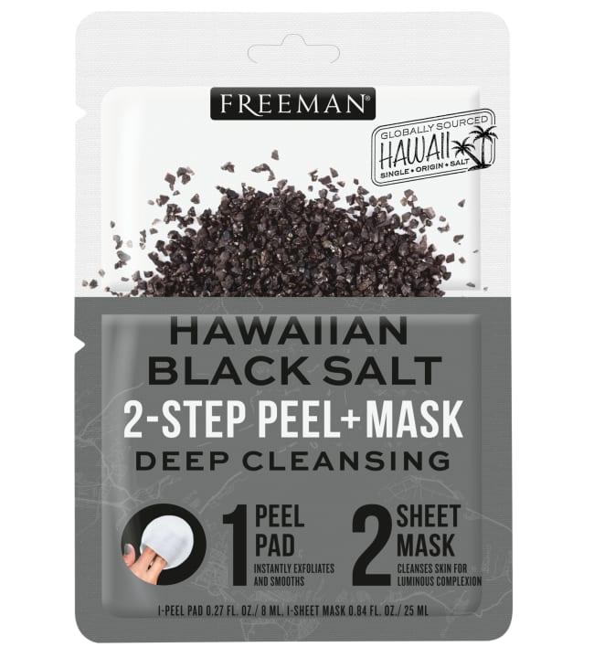 Freeman 2-Step Peel+Mask Black Salt kuoriva lappu + kangasnaamio