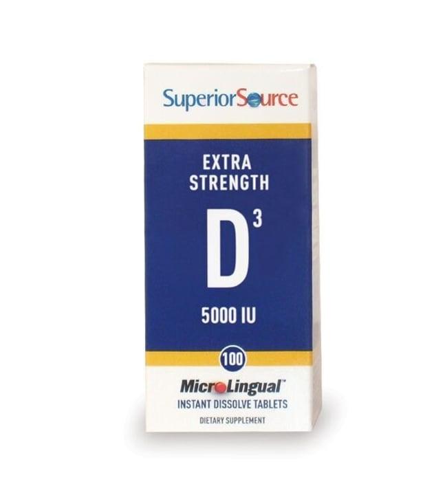 Superior Source 100 kpl D3-vitamiini 125µq