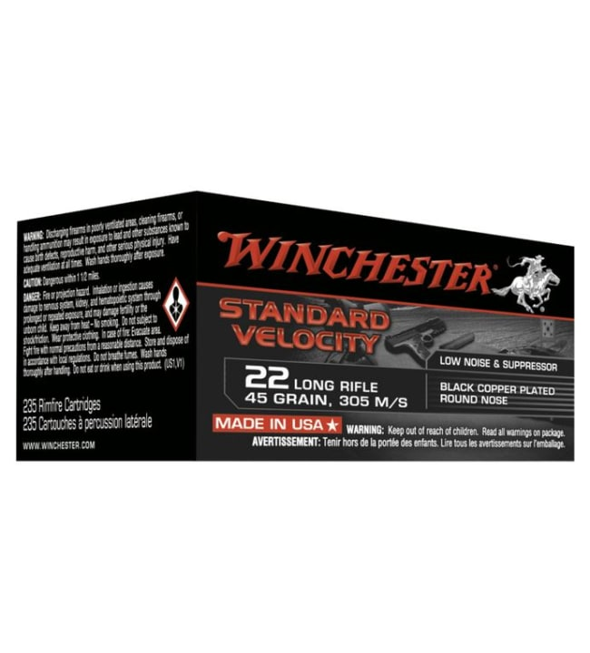 Winchester .22LR Subsonic STD 235 kpl patruuna