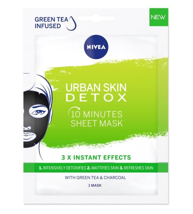 Nivea Urban Skin Natural Detox Sheet Mask kasvonaamio
