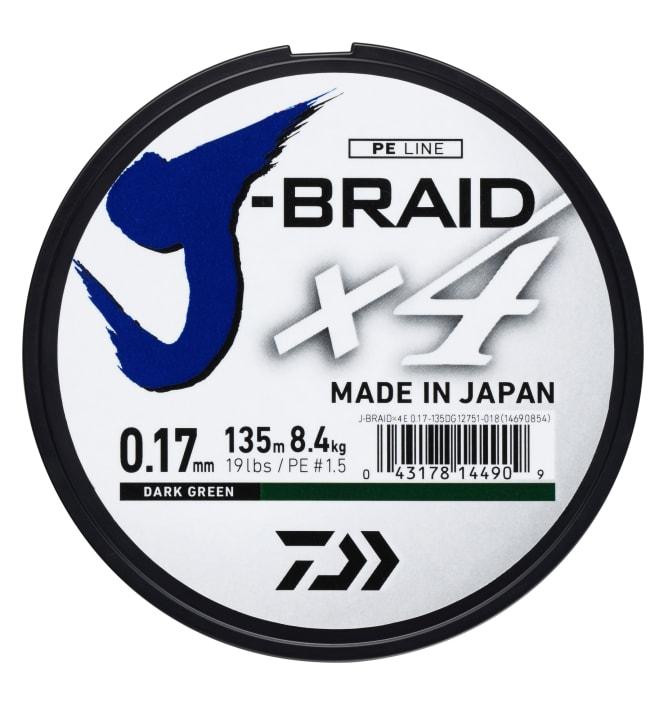 Daiwa J-Braid X4E 135 m vihreä kuitusiima
