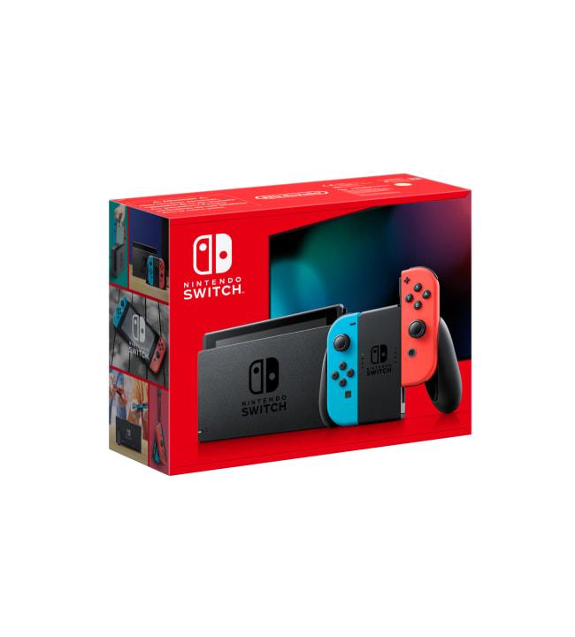 Nintendo Switch (new) värikkäillä Joy-Con -peliohjaimilla