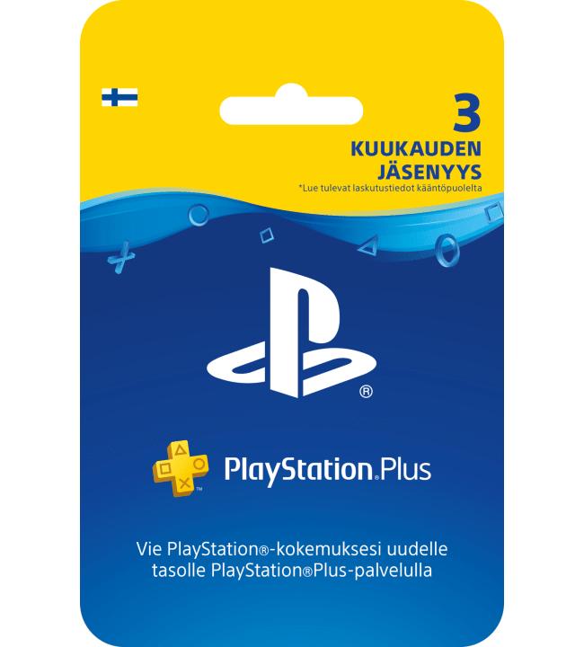 Sony PlayStation Plus 3 kuukauden jäsenyys