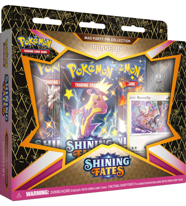 Pokemon Shining Fates Mad Party Pin Collection