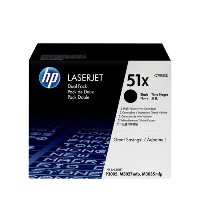 HP 51X 2 pakettia Tuottoisa musta värikasetti
