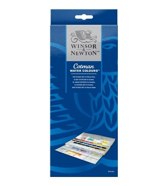 Winsor & Newton Cotman Studio set 24x1/1 vesivärisetti