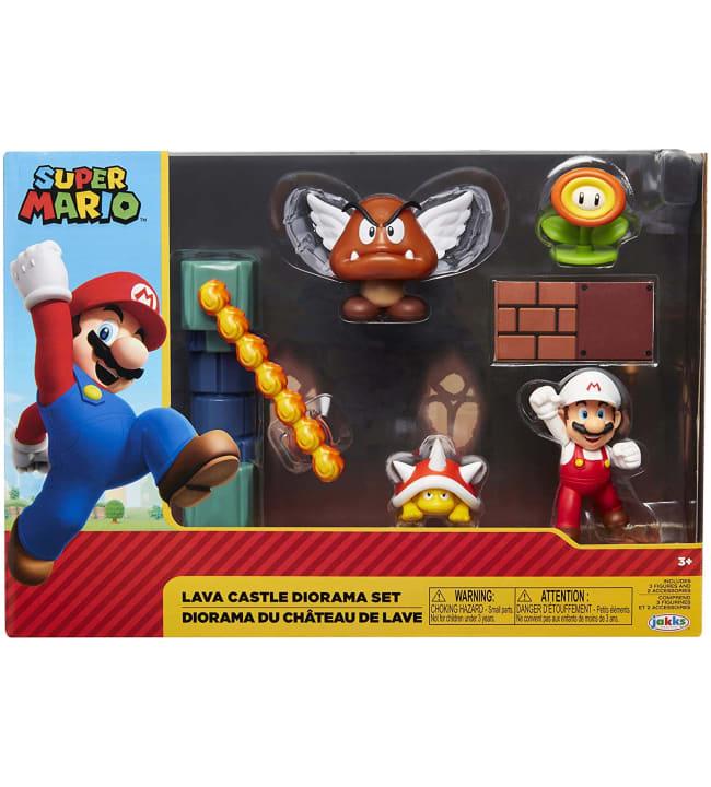 Super Mario Lava Castle Diorama Laavalinna leikkisetti