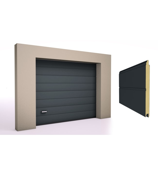 Doormaster Classic M-Rib sileä antrasiitti nosto-ovi