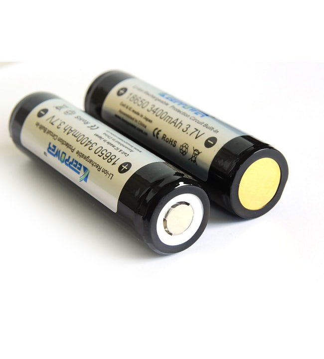 Keeppower 3400 mAh Protected 18650 Li-ion Battery akkuparisto