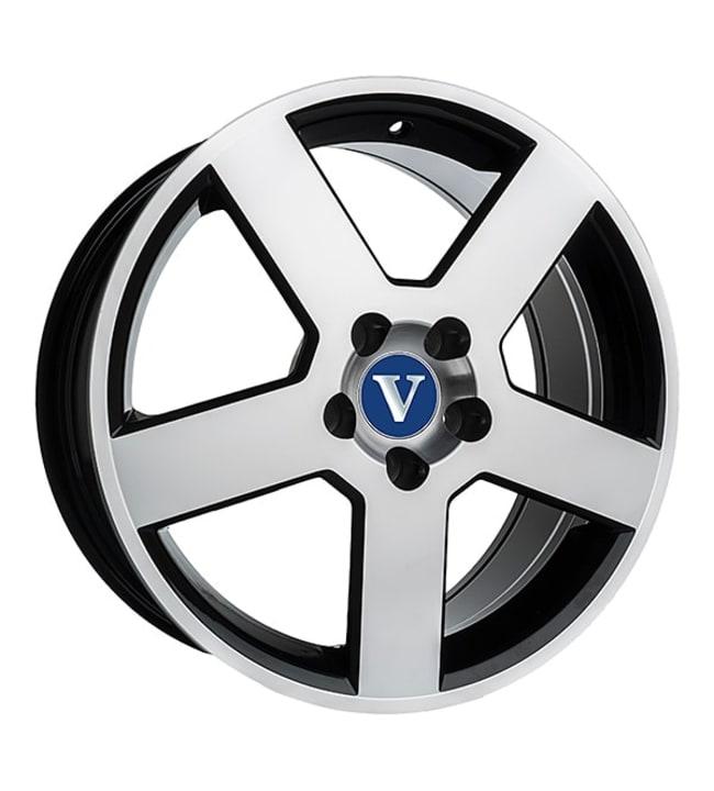 V-Wheels Pegasus Black Polished 7.5x17 Jako:5x108 ET:52 vanne