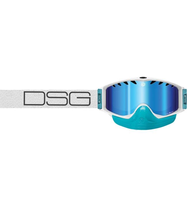 Triple 9 Saint Divas White Blue Mirror/Ambre Lens Goggle ajolasit