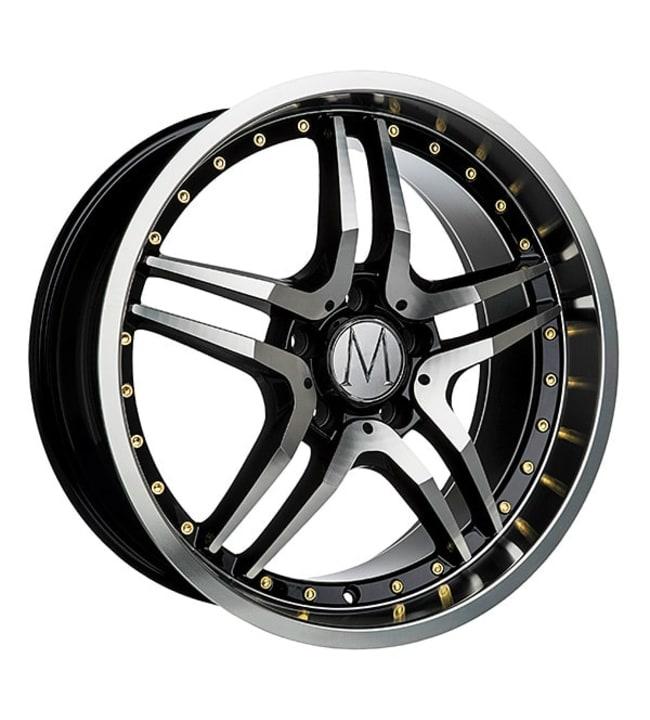 Melchior GT Black Polished Gold Rivets 8x18 jako: 5x112 ET:45 vanne
