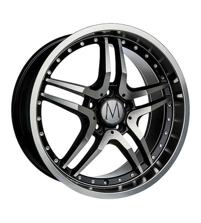 Melchior GT Black Polished Chrome Rivets 8x18 jako: 5x112 ET:45 vanne