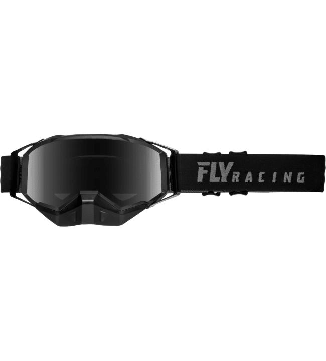 Fly Racing Zone Pro Snow Black Dark Smoke Polarized ajolasit