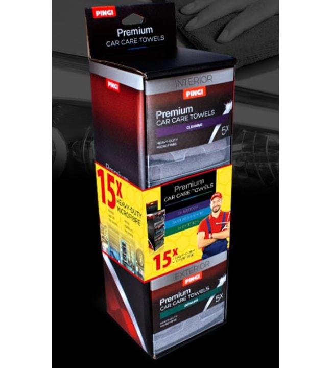 Pingi Car Care Towels Interior 30x30cm 5kpl mikrokuituliina sisäpinnoille