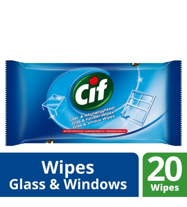 Cif Lasi- ja ikkunapyyhkeet 20 kpl