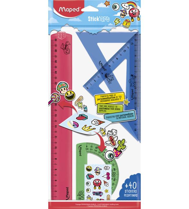 Maped stickart 4-os. viivainsetti+tarrat