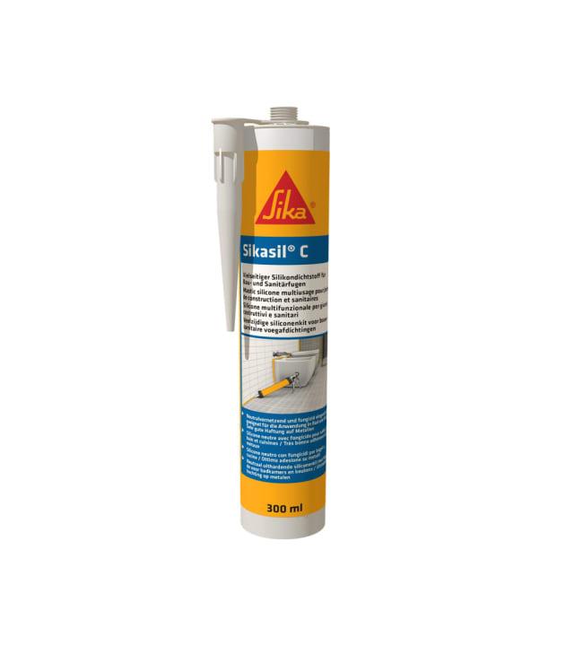 Sikasil-C valkoinen homesuojattu 300 ml yleissilikoni