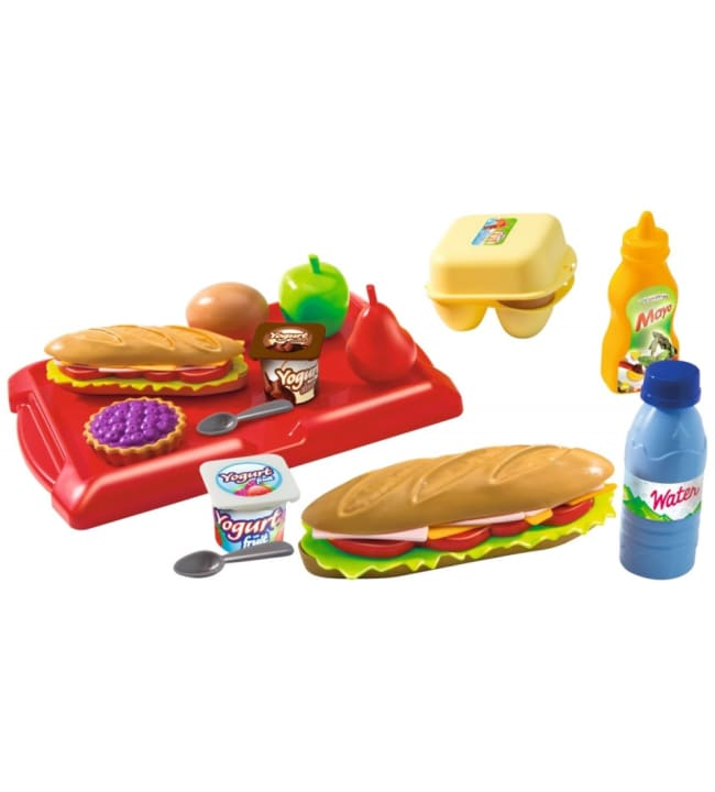 Ecoiffier piknik laatikko+tarjotin sekä tarvikkeet