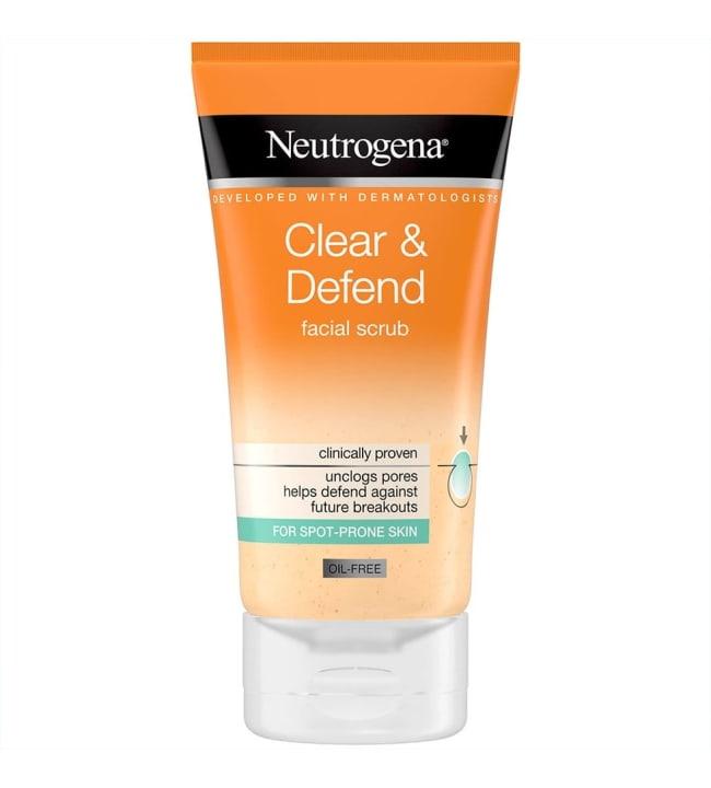 Neutrogena Clear & Defend Facial Scrub 150 ml kuorintavoide