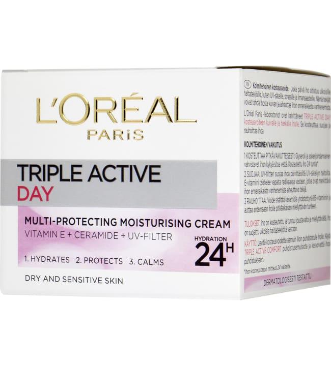 L'Oréal Paris Triple Active 50 ml kuivalle iholle päivävoide