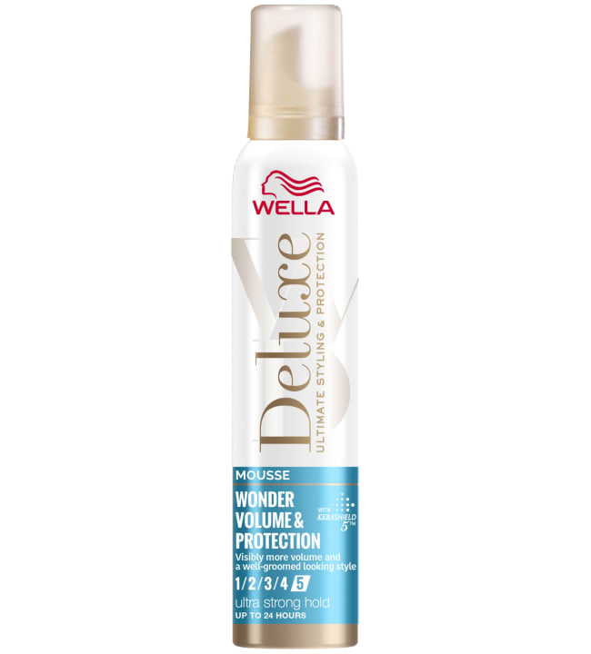 Wella Deluxe Wonder Volume Protection Ultra strong 200 ml muotovaahto