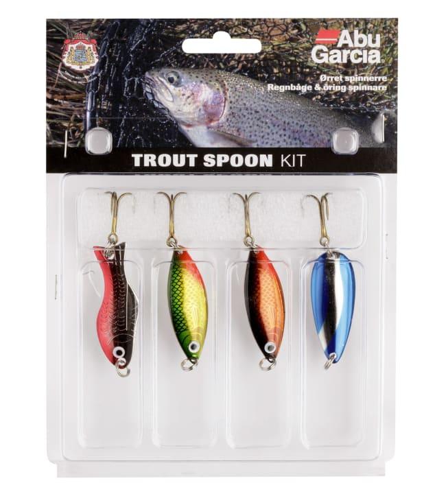 Abu Garcia Trout Kit Spoon in 4-pack taimenelle uistinlajitelma