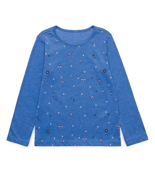 Esprit Etnopainettu lasten pitkähihainen paita