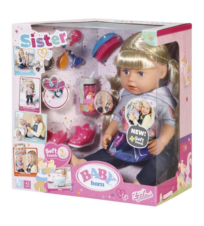 Baby Born Soft Touch Sister Blond 43cm kylvetettävä nukke