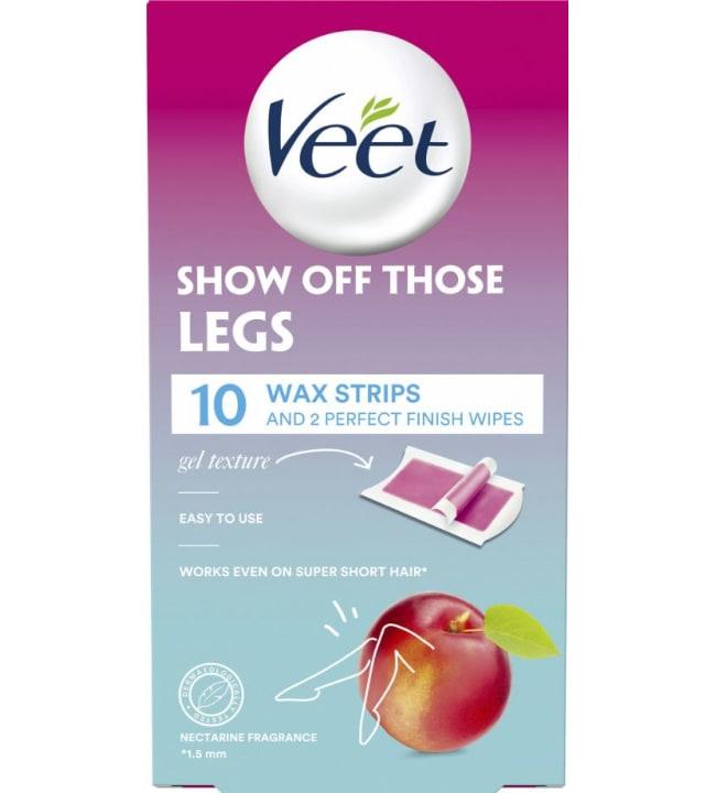 Veet Wax Legs 10 kpl kylmävahaliuska