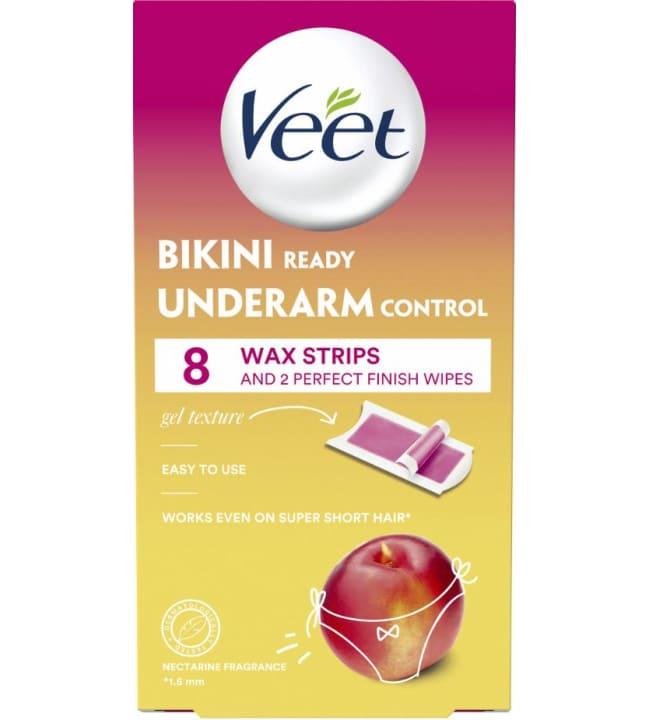 Veet Wax Bikini & Underarm 8 kpl kylmävahaliuska