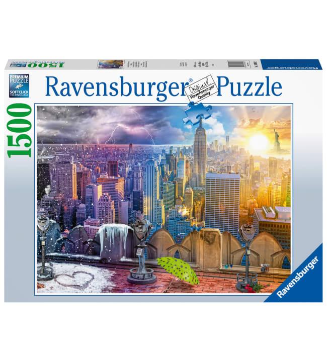 Ravensburger Day & Night NYC Skyline 1500p palapeli