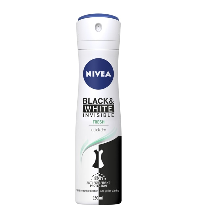 Nivea Invisible B&W Fresh Spray 150 ml suihkeantiperspirantti