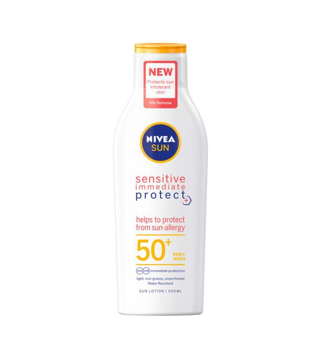 Nivea Sun Sensitive Immediate Protect SK50+ 200 ml aurinkosuojavoide