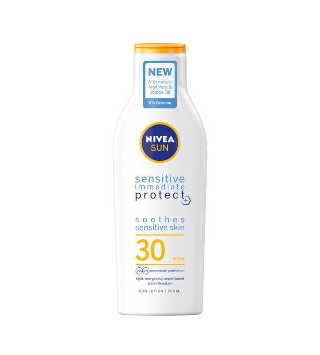 Nivea Sun Sensitive Immediate Protect SK30 200 ml aurinkosuojavoide