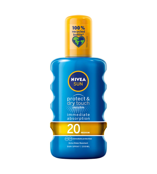 Nivea Sun Protect & Dry Touch Invisible SK20 200 ml aurinkosuojasuihke