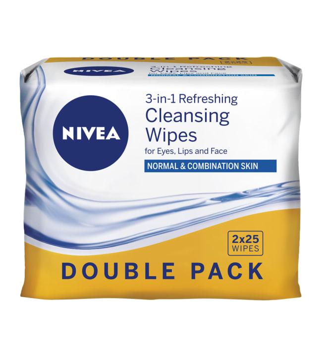 Nivea Refreshing Double Pack 2x25 kpl puhdistusliinat