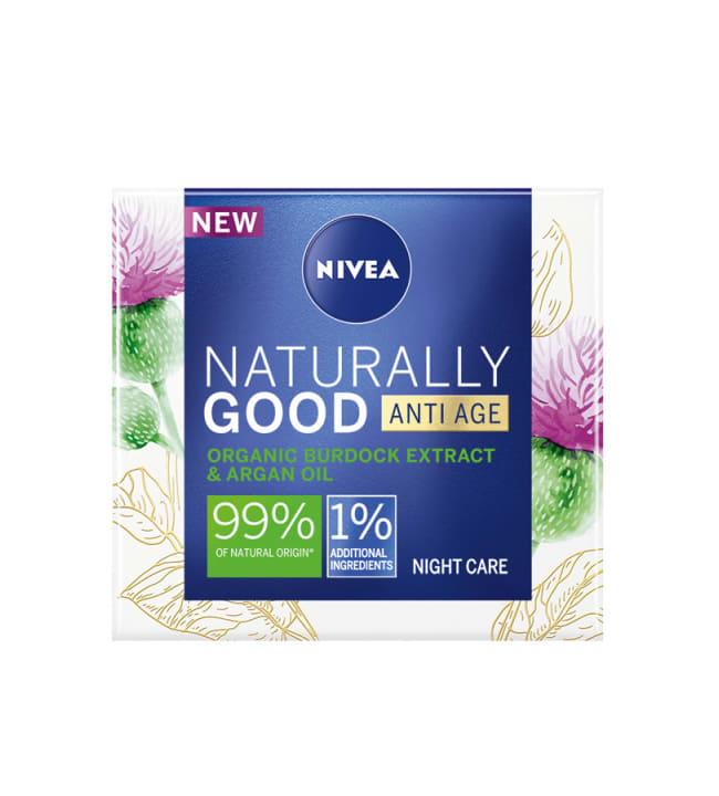 Nivea Naturally Good Anti-Age 50 ml yövoide