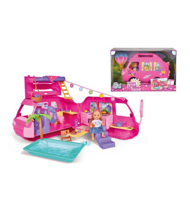 Steffi Evi Love Holiday Camper matkailuauto ja nukke