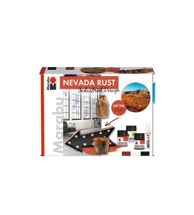 Marabu Nevada Rust 3 kpl ruoste-efektimaali