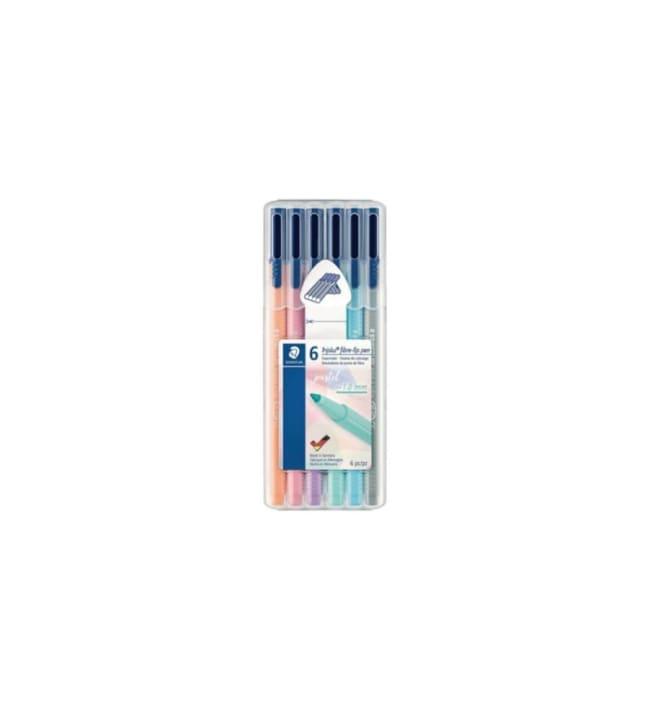 Staedtler Triplus Fineliner pastellilajitelma kuitukärkikynä
