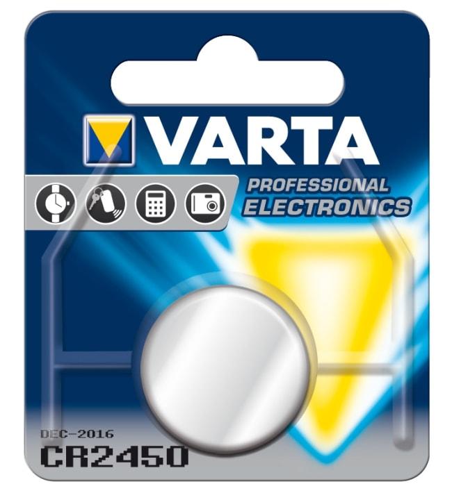 Varta CR2450 3V litium nappiparisto