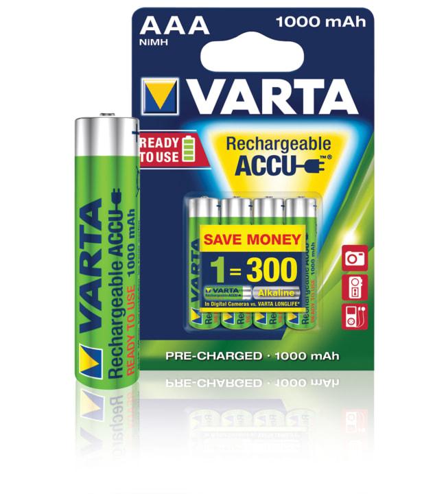 Varta Accu AAA 1000 mAh ladattava paristo