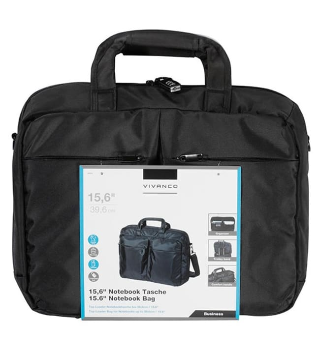 VIVANCO Notebook Bag Professional 15.6''/39.6 cm, musta kannettavan laukku