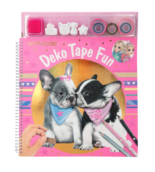 TOPModel Dog Deco Tape Fun värityskirja
