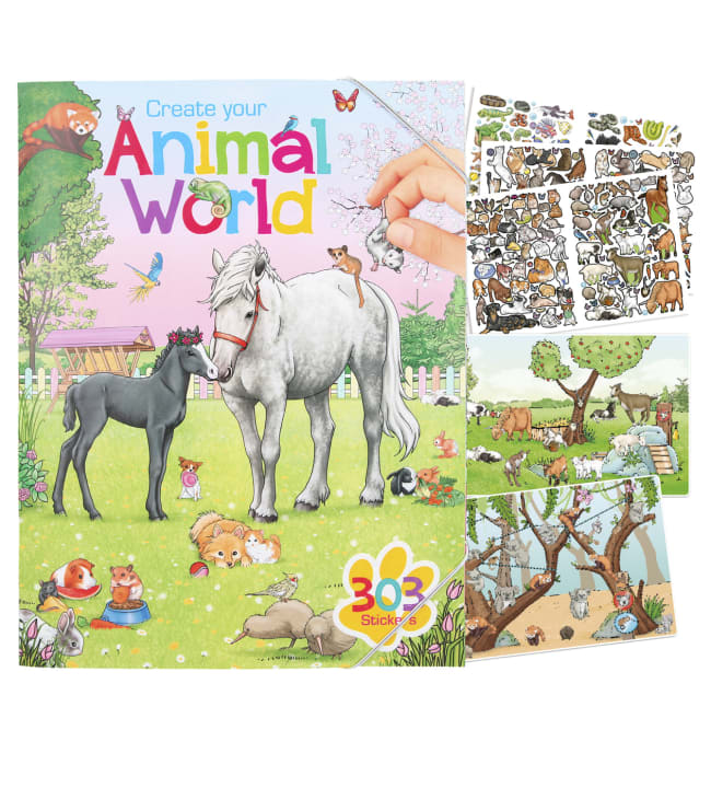 Create your Animal world tarrakirja