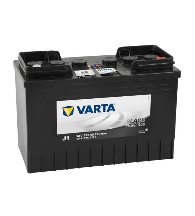 Varta Promotive Black J1 125Ah käynnistysakku